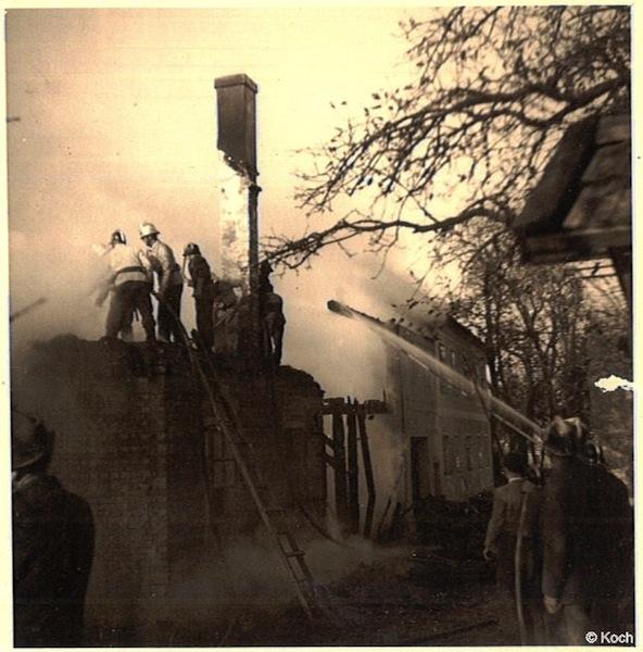 Brandeinsatz Erhard Anzenberg, am 1. November 1953