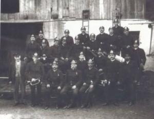 Gründungsmitglieder der FF Mannersdorf