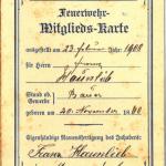 Mitgliedskarte der FF Mannersdorf