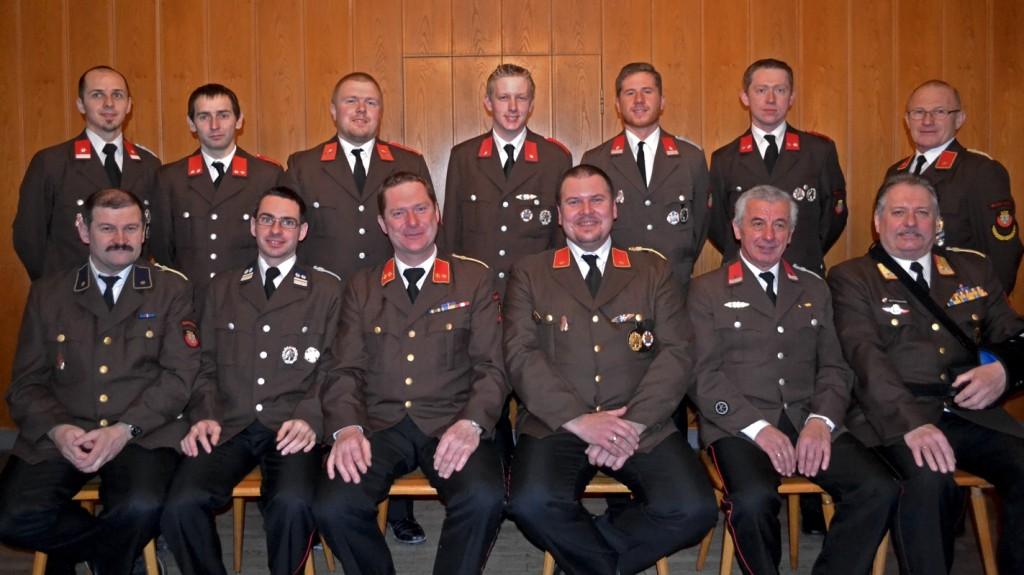 Gruppenfoto FF Mannersdorf Mitgliederversammlung
