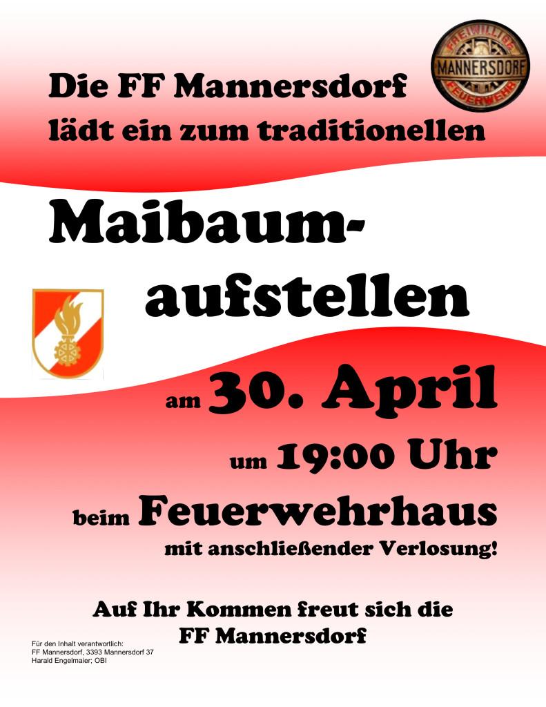 Maibaumaufstellen 2014 FF Mannersdorf