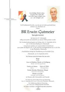 Trauerparte - Hr. Erwin Gutmeier