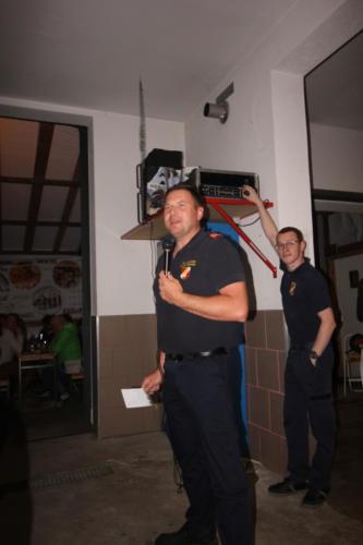 OBI Wolfgang Tippl bei der Begrüßung der Gäste