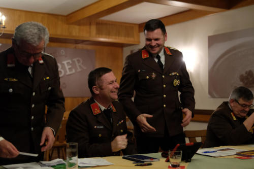 Harry bei seinem Rücktritt als Kommandant im Jänner 2019