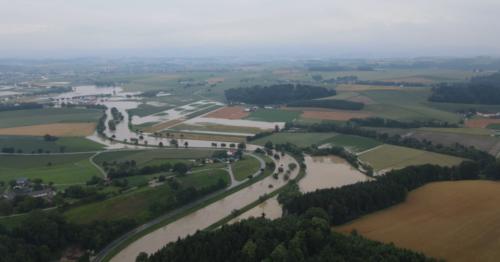 Luftaufnahme Lunzen (Blickrichtung Au/St. Leonhard)